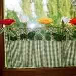 renkli desenli dekoratif perde tasarımları