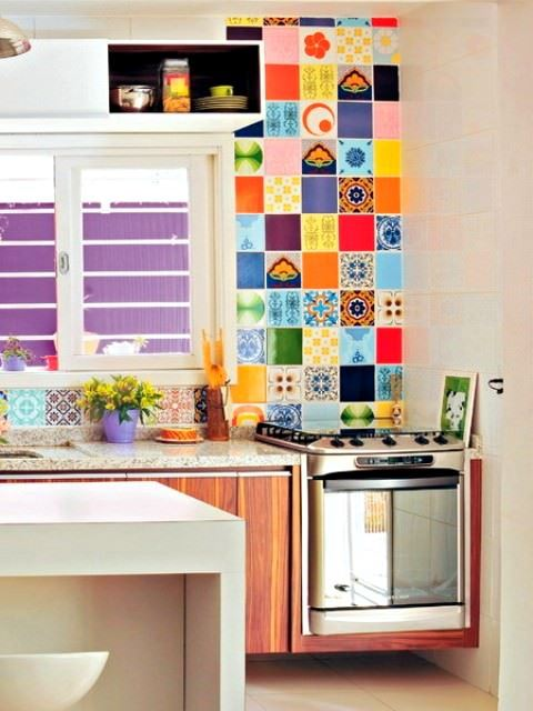 retro renkli dekorasyon