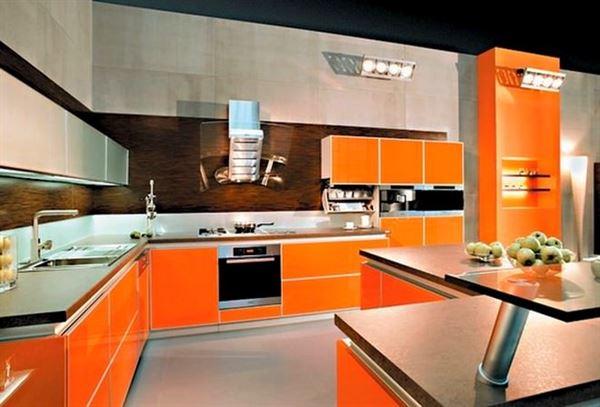 turuncu-mutfak-dekorasyon