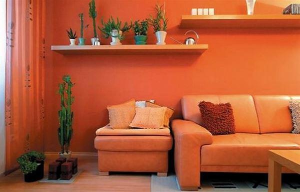 turuncu-renk-oturma-odasi