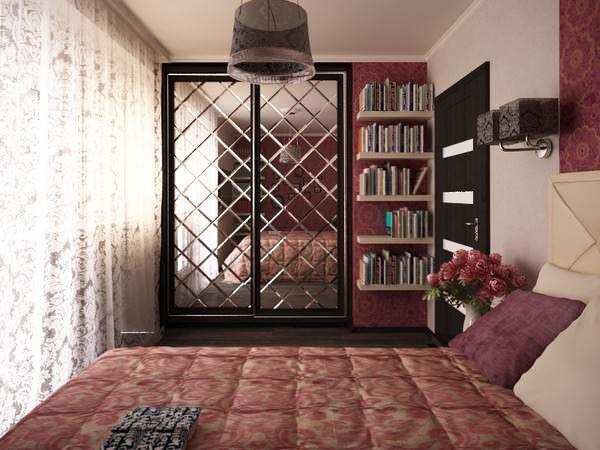 baklava desenli kapı ayna modeli