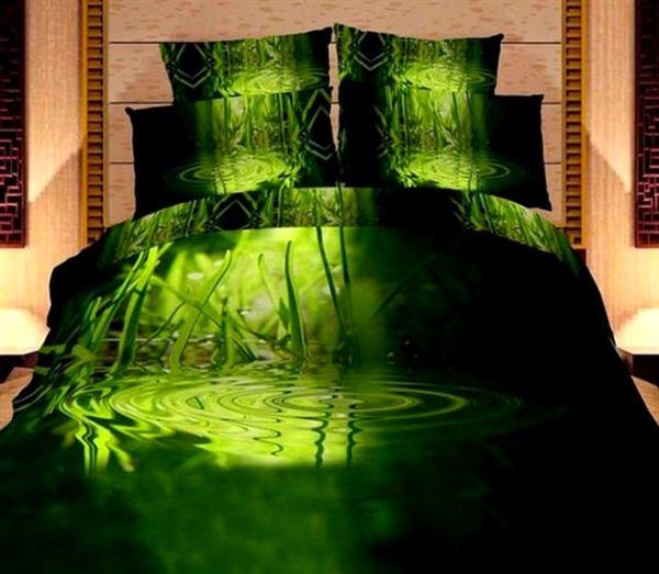 yeşil canlı nevresim