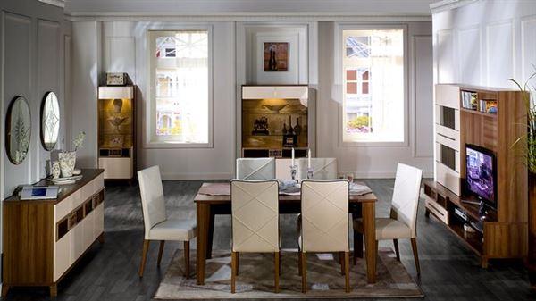 İstikbal mobilya otantik yemek odası takımı