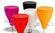 Renkli Sportif Oval Bar Tipi Sandalye Modelleri