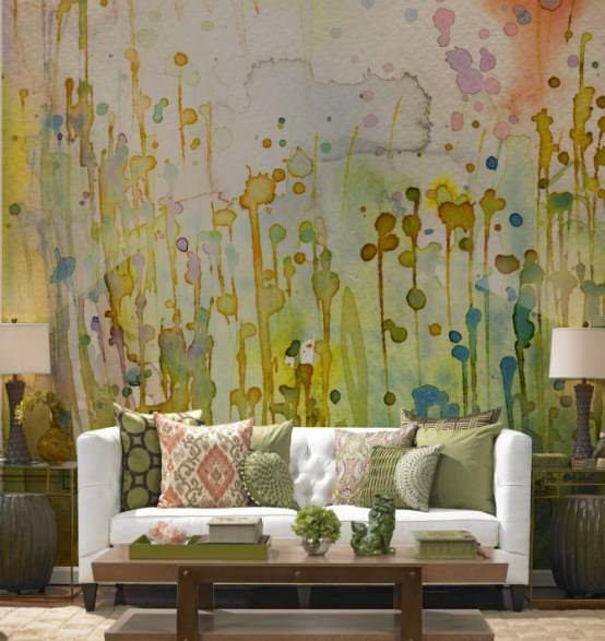 sulu boya tekniği ile duvar boyama Örnekleri - sulu boya teknigi ile duvar boyama 13
