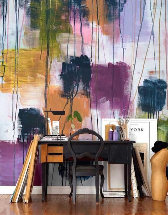sulu boya tekniği ile duvar boyama Örnekleri - sulu boya teknigi ile duvar boyama 14