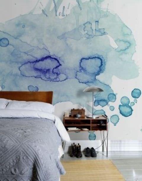 sulu boya tekniği ile duvar boyama Örnekleri - sulu boya teknigi ile duvar boyama 4