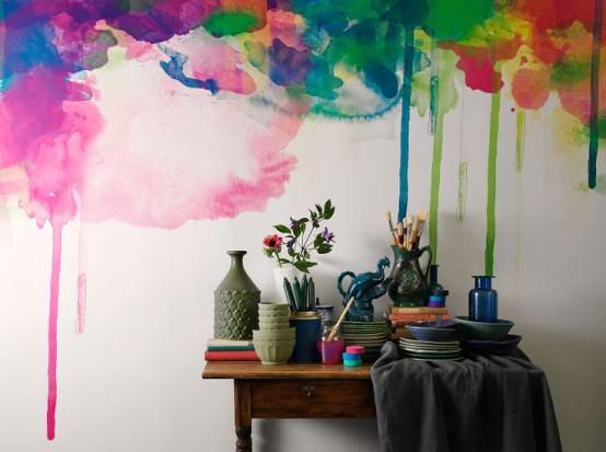 sulu boya tekniği ile duvar boyama Örnekleri - sulu boya teknigi ile duvar boyama 9