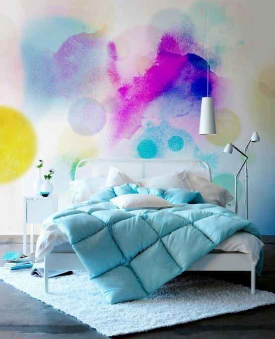 sulu boya tekniği ile duvar boyama Örnekleri - sulu boya teknigi ile duvar boyama