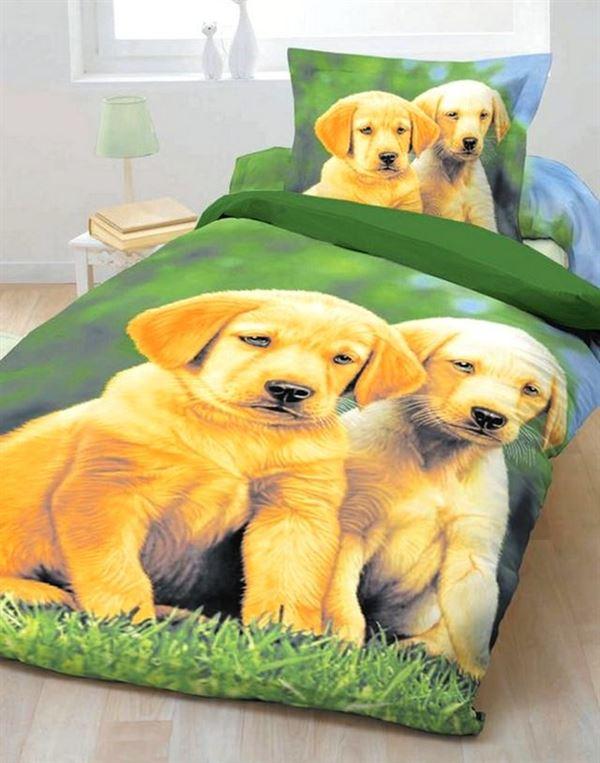 üç boyutlu köpek resimli örtü