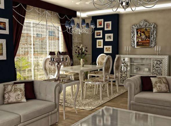 klasik salon dekorasyon