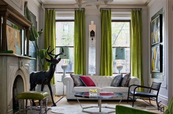 Doğa Rengi Yeşilden Perde Renk Tonları