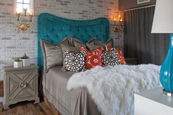 eclectic-bedroom klasik avangard yatak odası