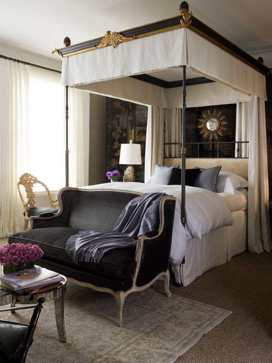 klasik-yatak-odasi-dekorasyon-fikirleri klasik avangard yatak odası