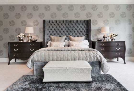 modern-bedroom klasik avangard yatak odası