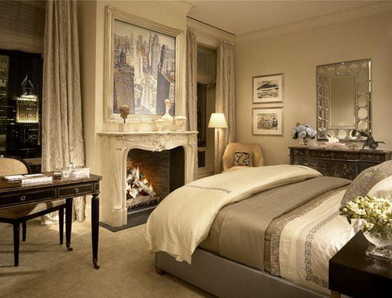 retro-yatak-odasi klasik avangard yatak odası
