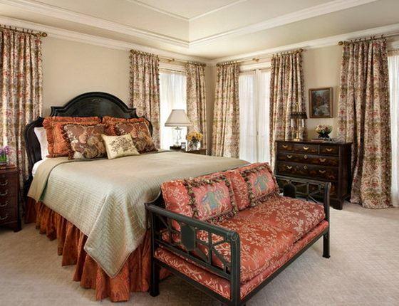 traditional-bedroom klasik avangard yatak odası