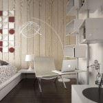 modern küçük daire dekoru
