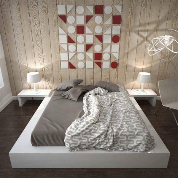küçük daire yatak odası