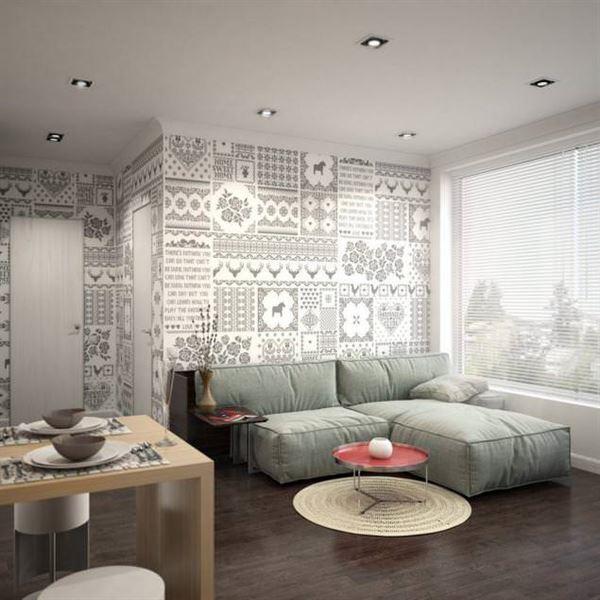 küçük daire salon dekorayon