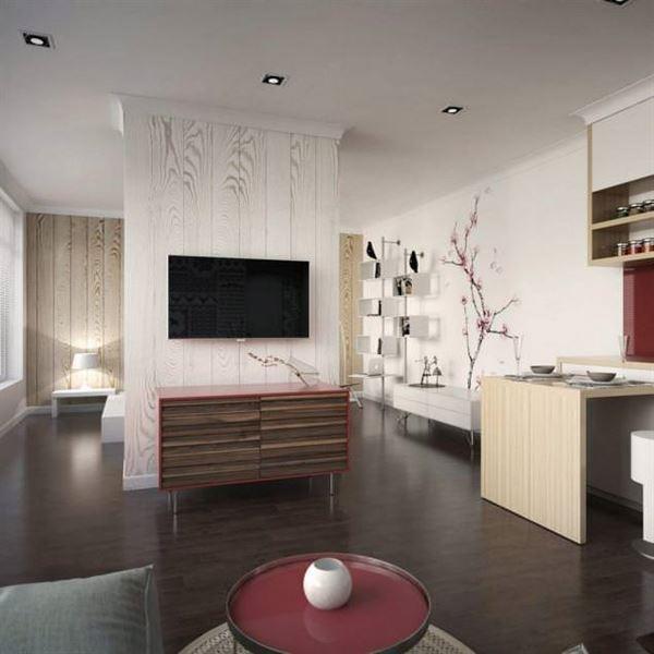küçük daire oturma odası dekorasyon