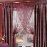 yatak odası perde modelleri - bordo desenli yatak odasi perde modeli 150x150 - Yeni Tasarım Yatak Odası Perde Modelleri Ve Renkleri