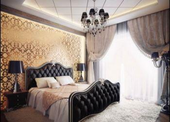 Black-gold-bedroom-design