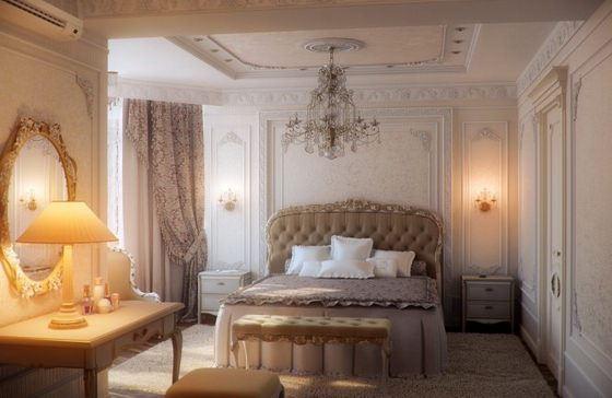 Traditional-bedroom-furniture klasik avangard yatak odası