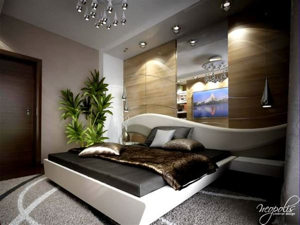 Modern Lüks Yeni Stil Yatak Odası Dekorasyonları 6
