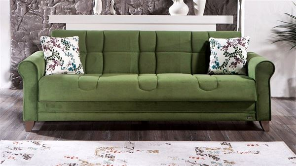 yeşil dekoratif kanepe