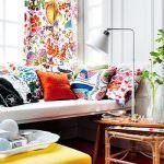 çiçek desenli dekorasyon evinizi güzelleştirmek adına fikirler