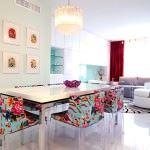 çok renkli yemek odası dekorasyon evinizi güzelleştirmek adına fikirler