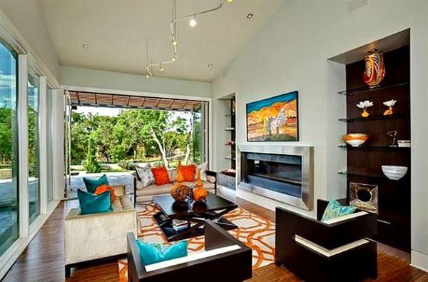 Oturma Odası Modern Renk Kombinasyonları 61