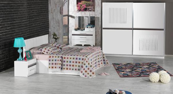 beyaz yatak odası kilim mobilya yatak odası mobilyaları - kilim mobilya sude 2015 yatak odasi - Kilim Mobilya Yatak Odası Mobilyaları