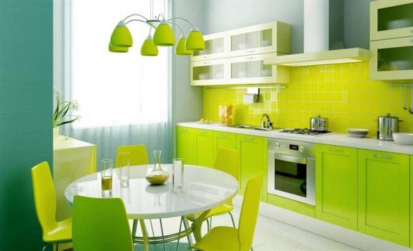yeşil mutfak tasarımı