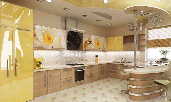 geniş dolaplı mutfak dekorasyon