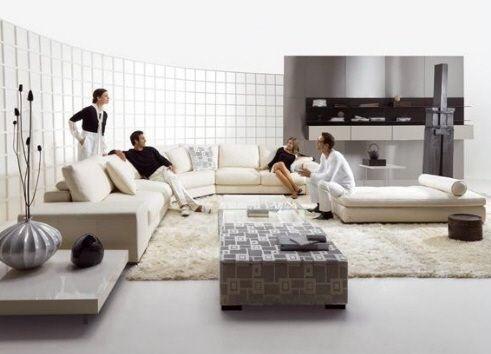 yeni moda salon dekorasyon fikirleri - acik renk salon dekorasyon modelleri