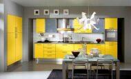 Sarı ve Turuncu Mutfak Modelleri