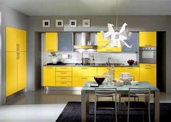 sari turuncu mutfak modelleri2