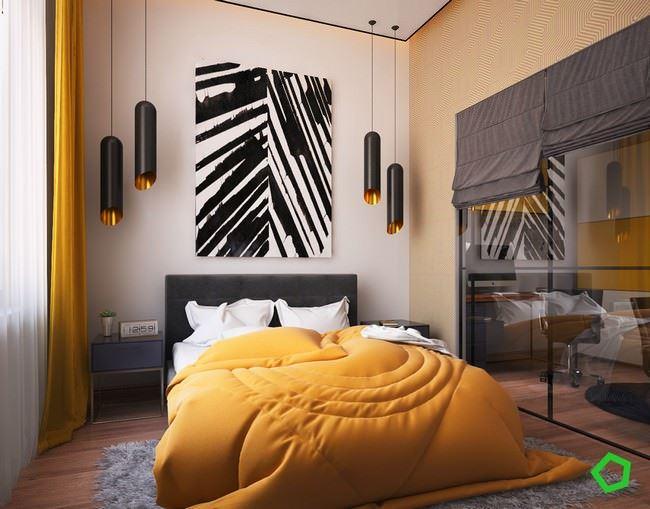 turuncu-dekorasyonlu-yatak-odasi
