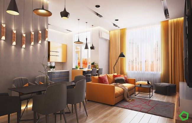turuncu-oturma-odasi-dekorasyon-stili