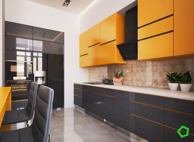 turuncu-siyah-mutfak-dekorasyonu