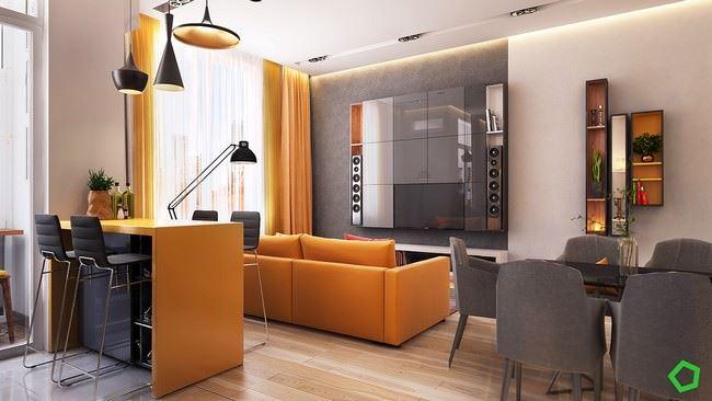 Turuncu Renk Sevenler İçin Modern Dekorasyon Stili 1