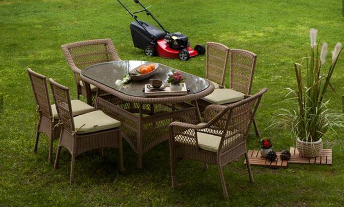 Bahçe Masa Sandalye Takımları bahçe masa sandalye takımları - bellona acelya oval hasir bahce masa takimi - Bahçe Masa Sandalye Takımları