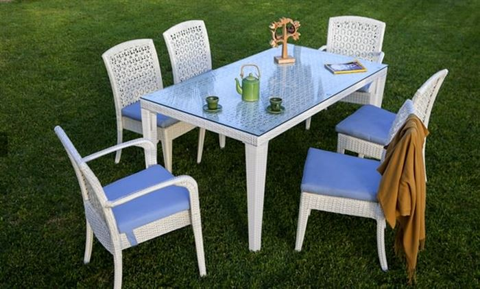 Bahçe Masa Sandalye Takımları bahçe masa sandalye takımları - beyaz hasir bahce masa sandalye - Bahçe Masa Sandalye Takımları