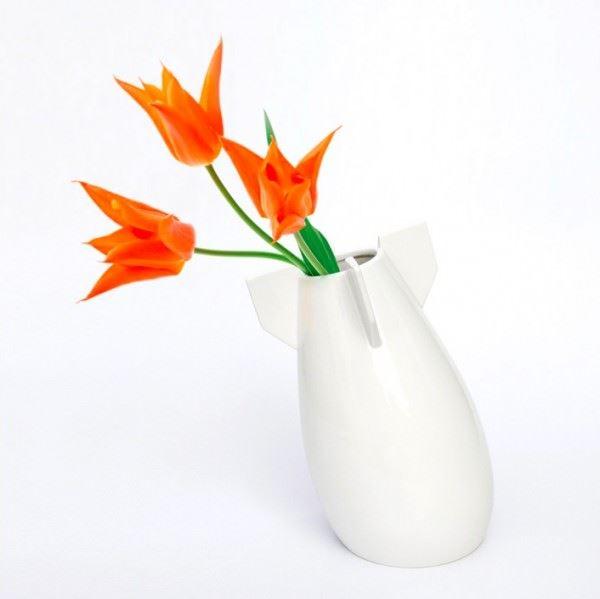 vazo modelleri - bomb shaped vase - Dekoratif Modern Yeni Tasarım Vazo Modelleri
