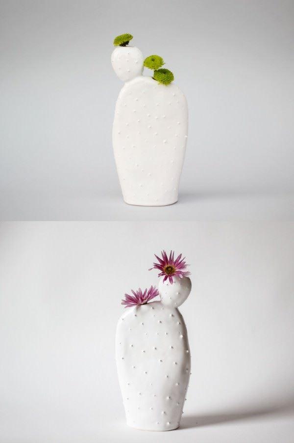 vazo modelleri - cactus bud vase planter - Dekoratif Modern Yeni Tasarım Vazo Modelleri