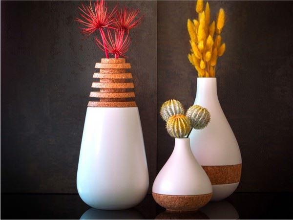 değişik porselen vazolar