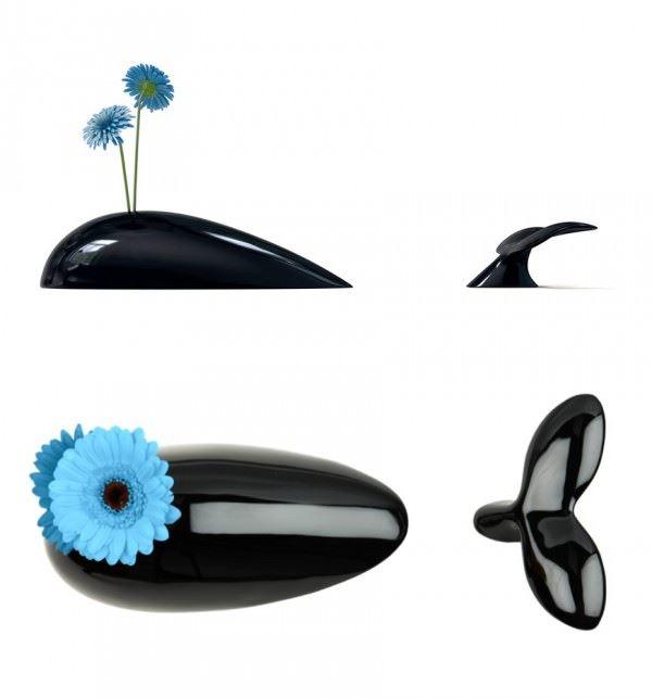 değişik çiçek vazoları