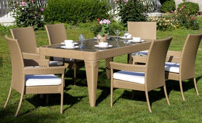 Bahçe Masa Sandalye Takımları bahçe masa sandalye takımları - dikdortgen bahce hasirmasa takimi - Bahçe Masa Sandalye Takımları